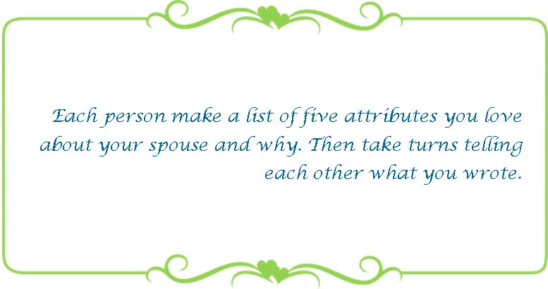 069 five attributes you love about your spouse