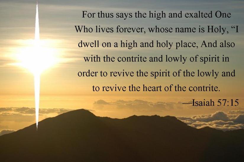Isaiah 57 15 mountain