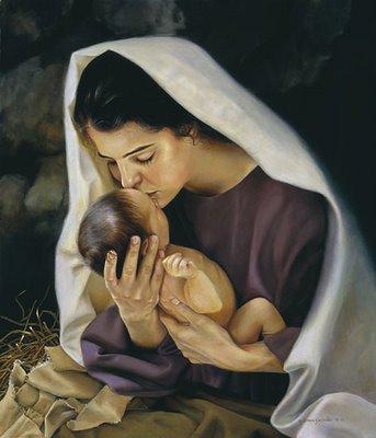 Mary Kiss baby Jesus