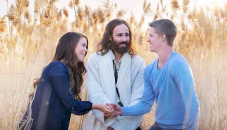 Jesus with couple