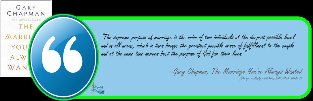 supreme purpose of marriage